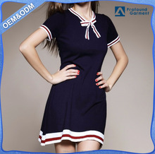 New Design V Neck Casual Dresses Of Woman Lady