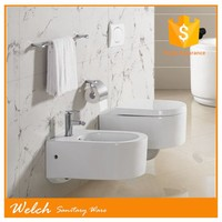 KB-155 white color ceramic wc hanging toilet water closet
