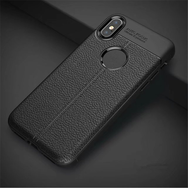 Concise brief litchi texture leather style shockproof soft TPU mobile phone case for iphone 5 5s SE phone cover