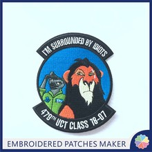 Wholesale No Minimum Hook-on Custom Embrodered patches For clothing