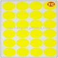 Yellow Fluorescent Dot Self-adhesive Stickers/label
