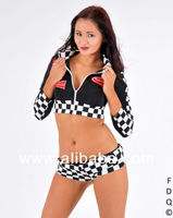 Racer Girl Fancy Dress Costume Sizes M/L/XL