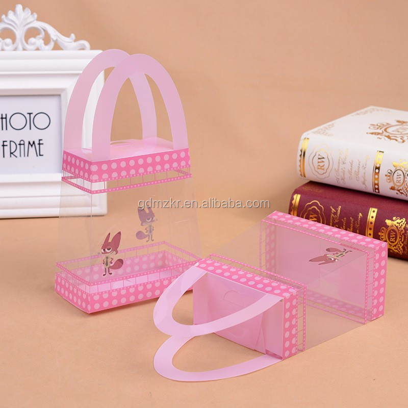 Wholesale custom small clear pvc gift packaging box plastic storage box