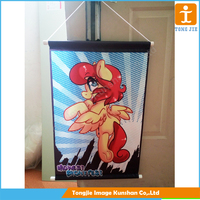 Cartoon picture hanging scroll banner in house
