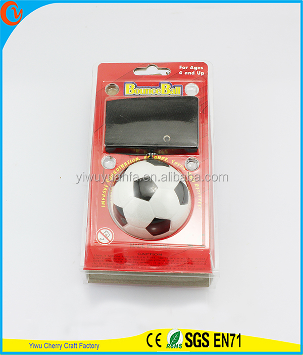 Novelty Design Kid's Toy White Soccer Wrist Hi Rubber Bounce Ball