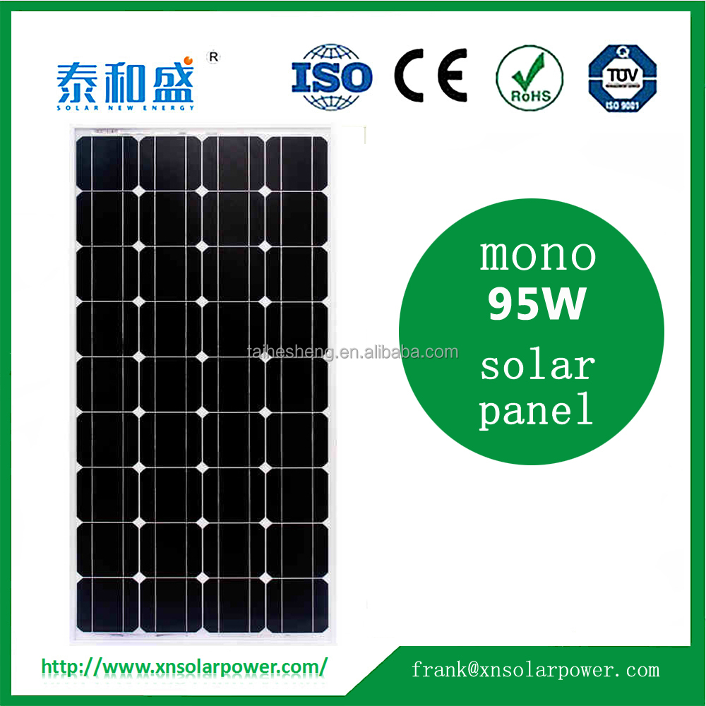 China manufacture PV mono 95W solar panels for sale