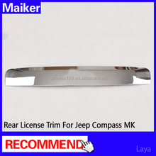 for Jeep Compass MK 2011 auto parts rear License plate for Jeep Compass MK accessories 2011