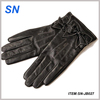 fashion butterfly knot lined leather gloves for ladies
