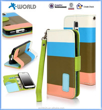 Premium Flip Wallet Stand Case with PU Leather and Card Slots Cover for Samsung Galaxy S5 mini