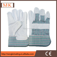 cotton chrome industrial leather hand gloves