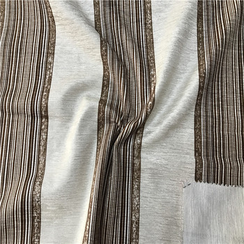 Recycled suede printed stripe fabric