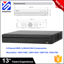 Factory sale 6Mp / 5Mp / 4Mp / 3Mp / 1080P / 720P / D1 8 channel poe cctv nvr