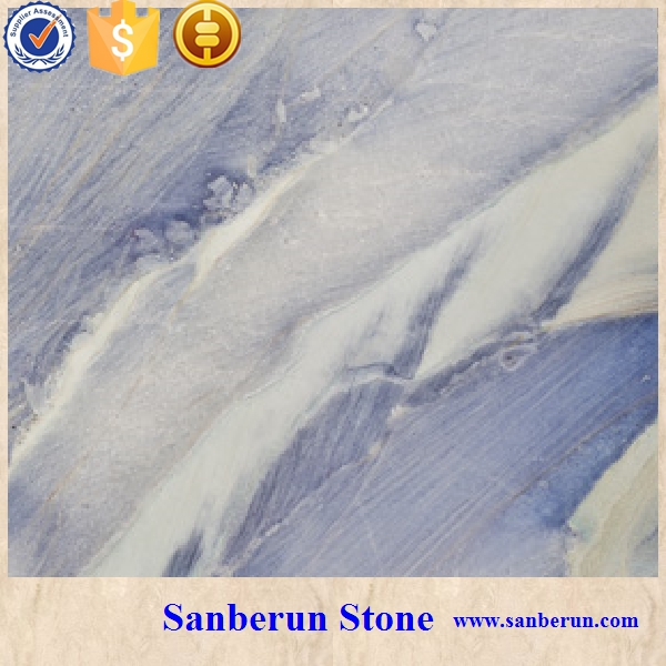 Beautiful Natural Blue Ice Age Marble for Vase