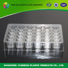 Wholesale disposable clear plastic quail egg tray