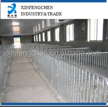 Factory supply hot galvanized fatten crate for pigs