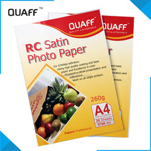 Waterproof RC Satin photo paper and inkjet photo paper 260G A4
