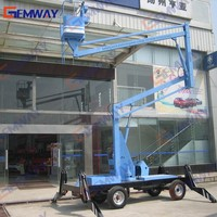 13.5m small truck mounted boom lift for sale