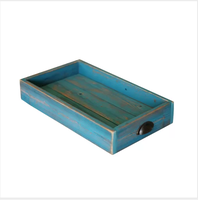 Wood Storage Ottoman Tray For Sale