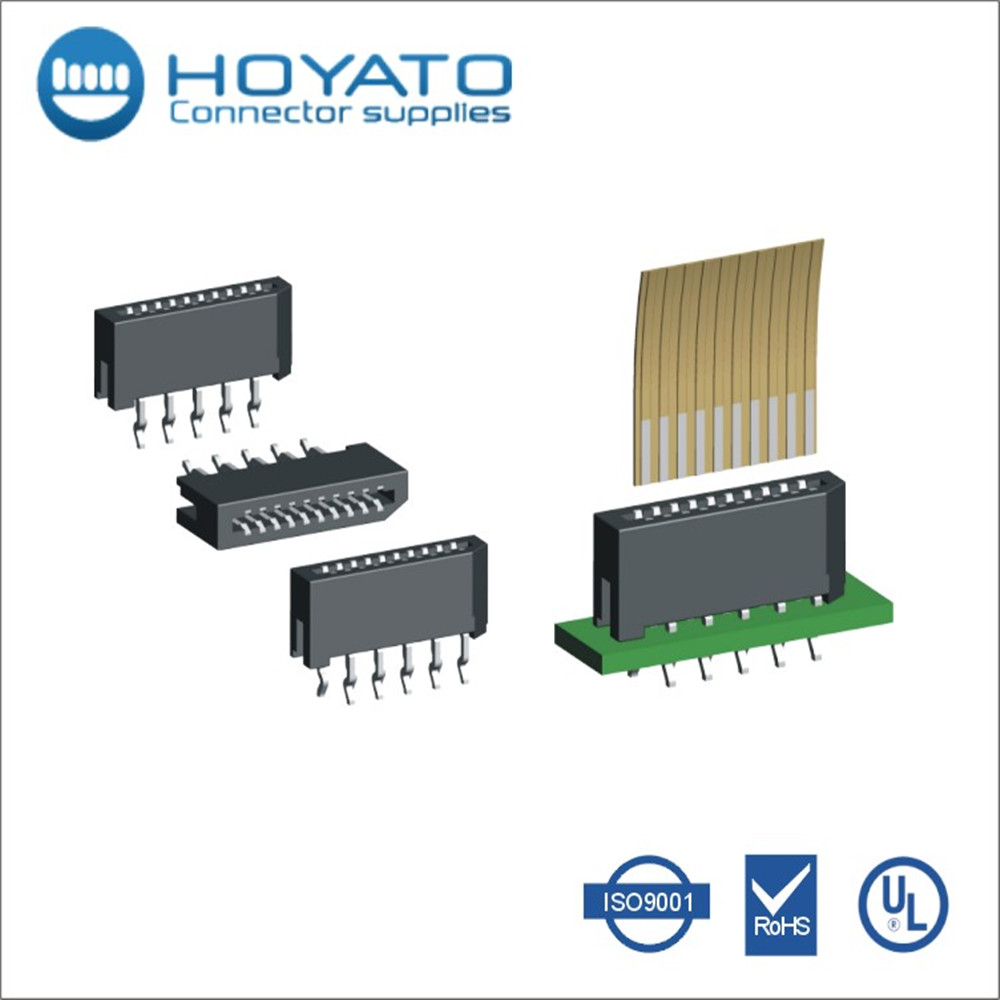 Thin 1.0mm FPC FFC battery Straight SMT Type Connector