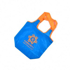New recycle nylon foldable button tote bag