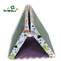 Triangle corrugated cat scratcher toy of eco friendly pet products