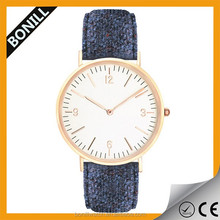 New arrival fashion vogue ladies watch suede leather strap for watch