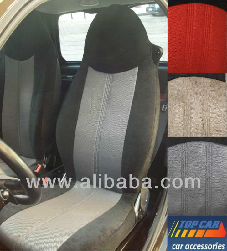 SET LUXURIOUS SEAT COVER for SMART FORTWO 1998-2007 with BLACK VELOUR SIDES
