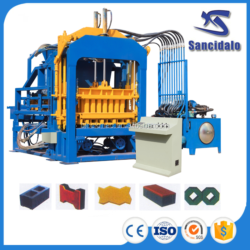 QT6-15 germany hydraform concrete adobe brick making machine