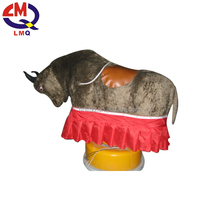 exciting amusement playground inflatable bull riding machine for adults
