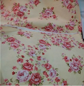 100% cotton print fabric rose flower design