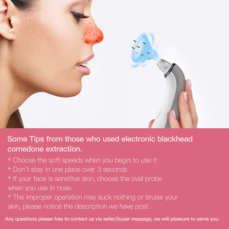 Electric Vacuum USB Charge Norse Blackhead Remover Facial Cleaner Suction