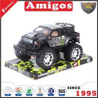 nice present Friction off road car 2 color mixed funny friction truck toy