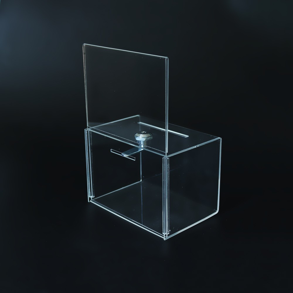 Wholesale Clear Acrylic Charity Donation Box with Lock (2).jpg