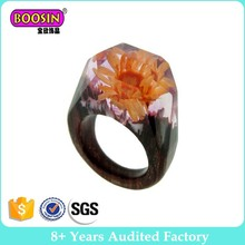 WR437 Handmade Fashion Exotic Wooden Tree Resin Ring wholesale jewelry 144-152