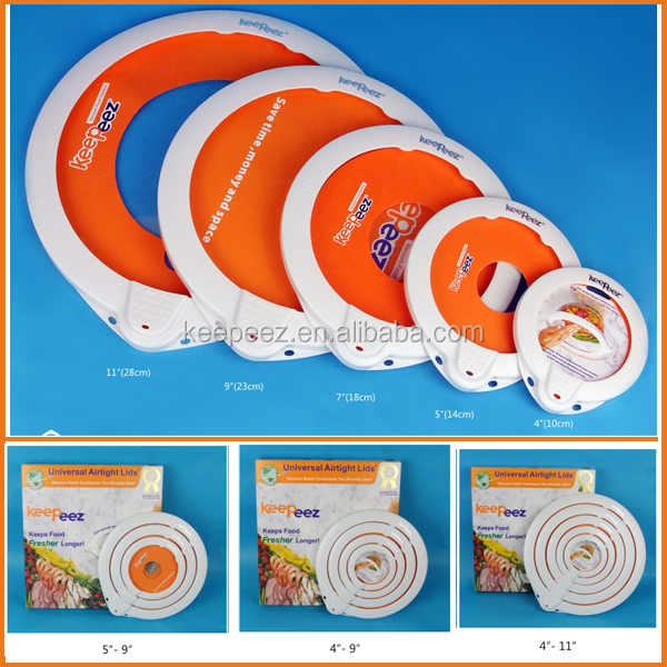 Innovative home/kitchen plastic vacuum fresh-keep seal lids/sealer /advertising gifts cup vacuum freshening &sealing lids