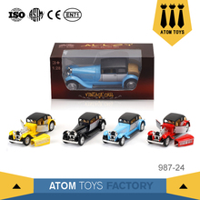 Boys collection 1:28 die-cast metal vintage model classic car toys for sale