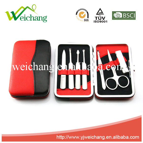 WCJ950 Stainless Steel Manicure Pedicure Set Travel Grooming Set Personal Care Tools Nail Clippers Kit with Leather