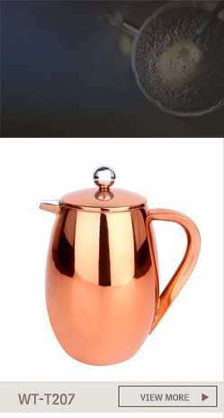 1 Liter Copper Double Wall Stainless Steel French Coffee Press
