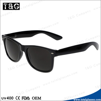 Cool sunglasses all black eyewear vintage retro model gafas de sol China jumping sale