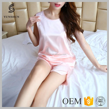 Hot Sale women printed sleepwear transparent nightwear for honeymoon