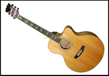 fully handmade solid wood flattop acoustic guitar