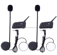2015 Brand new Best quality 1000m bt interphone for 4 riders motorcycle motorbike helmet bluetooth walkie talkie v6