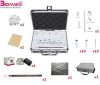 cheap new starter eyebrow semi permanent makeup kits/portable eyebrow microblading tools kits