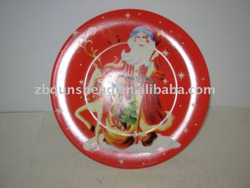 christmas plate with beautiful design