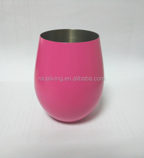 400ml / 12 oz Stainless Steel Stemless Wine Glasses /Goblet