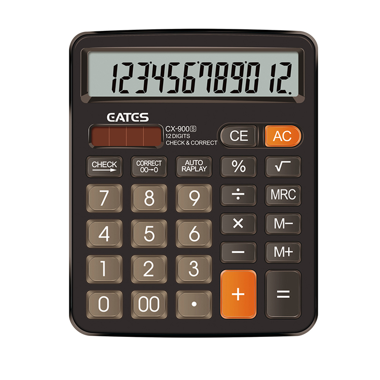 Eates new model 12 digit checking calculator desktop 2 color for option solar battery calculator