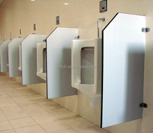 Urinal divider of toilet cubicle partition