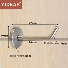 Yidear 97x40x7mm Stainless Steel Wall Mounting Hooks Clothing Store Wall Coat Hanger