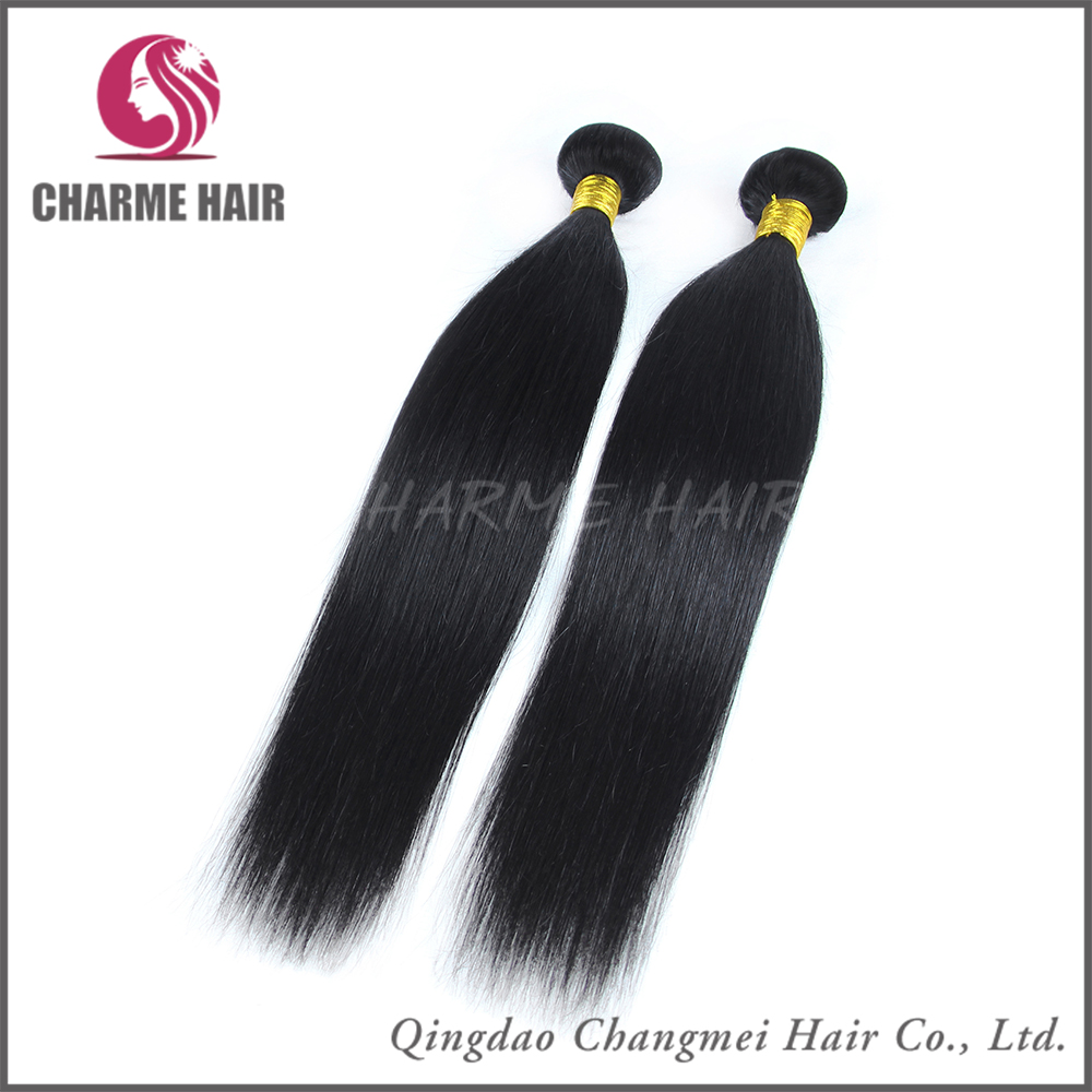 Cheap black straight hair extensions gray human hair