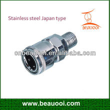 air coupling stainless steel with Japan type quick release couplings